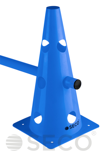 Blue SECO® training cone with holes 32 cm