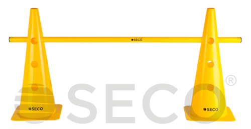 Yellow SECO® training cone with holes 48 cm